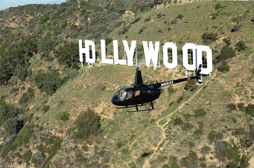 Helikopter över Los Angeles